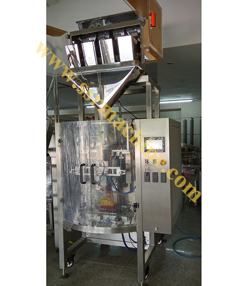 4 Heads Linear scale Digital Weigher with Packing Machine